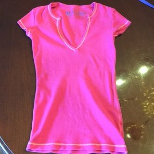 Victoria's Secret tee shop hot pink v-neck